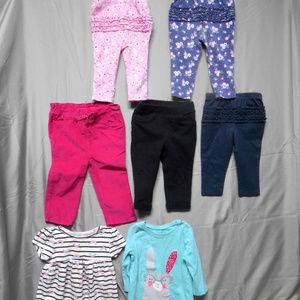 Lot of 7 pieces clothes girls size 12 months
